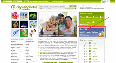 Depositphotos Free Photo Screenshot