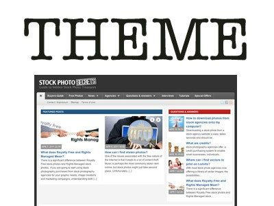 Website Theme Stock Photo