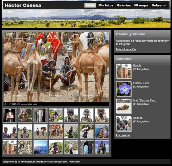 Photaki Photographers Portfolio Page
