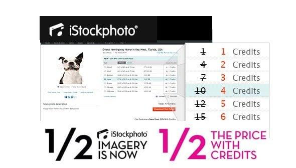 iStockphoto price cut