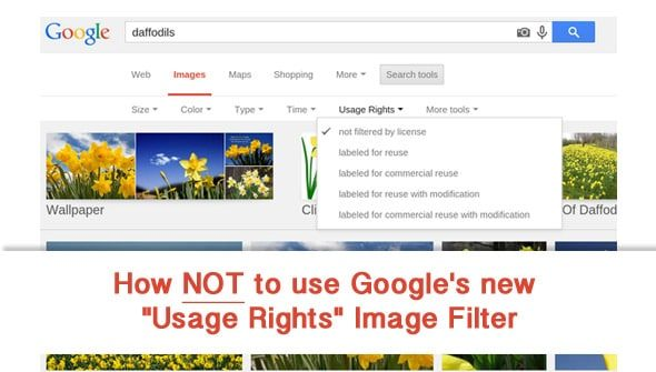 How not to use Google's new Usage Rights Image Filter