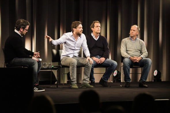 Florian Meissner (EyeEm), Stefan Glänzer (Passion Capital), Jason Whitmire (Earlybird Venture Capital)