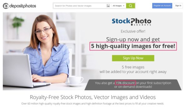 Depositphotos Coupon Offer