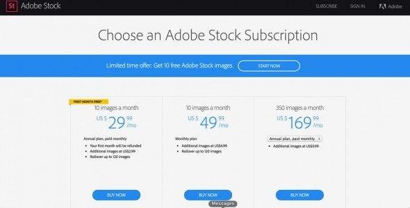 adobe stock pricing