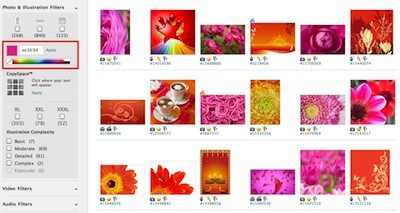 iStockphoto Search by Color