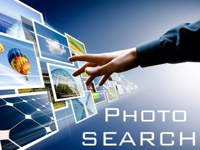 What is a stock photo search engine?
