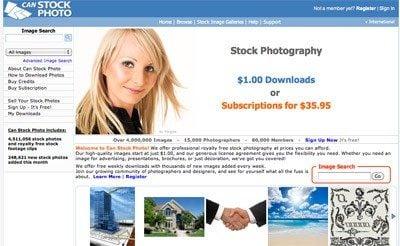 CanStockPhoto Screenshot