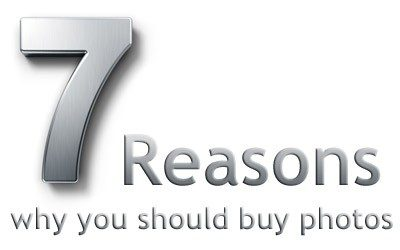 7 Reasons why you should buy stock photos