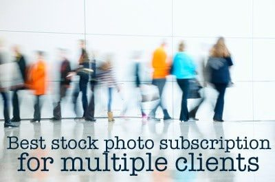 The best stock photo subscription for multiple clients