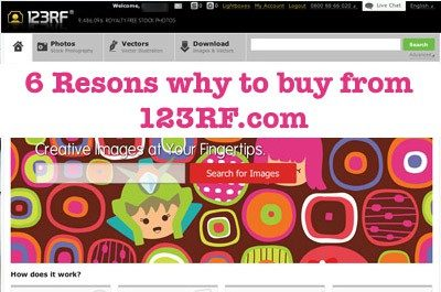 6 Reasons why to buy stock photos from 123RF.com