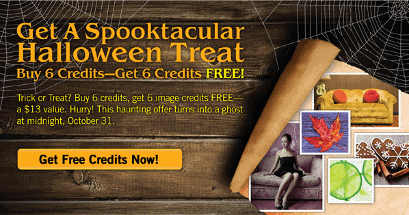 Bigstock fall discount – Buy any credit package and get 6 additional free credits