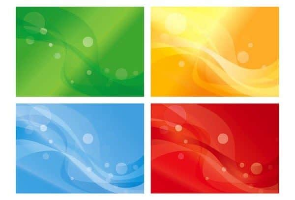 Free vector – Set of Four Variants of Abstract Color Backgrounds