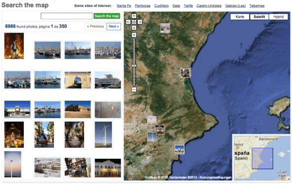 Photaki Search the map Feature