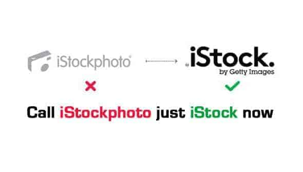 You can now call iStockphoto, just iStock