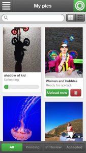 Fotolia mobile app: Instant Collection