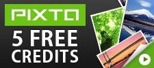 Get 5 free credits at Pixta!