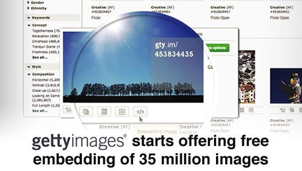 Getty Images starts offering free embedding of 35 million images