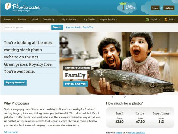 Photocase Homepage