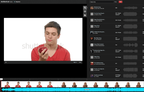 Drag and drop video and audio in your web browser with Shutterstock Sequence