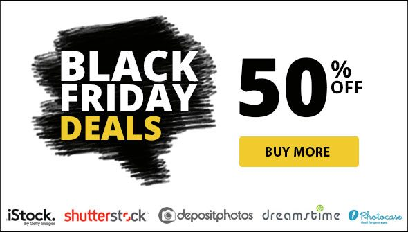 Black Friday Discounts – Save up to 50% on iStock, Depositphotos, Shutterstock, Dreamstime, 123RF, 500px and Photocase