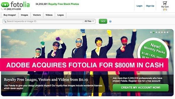Adobe Acquires Fotolia For USD 800M In Cash › Stock