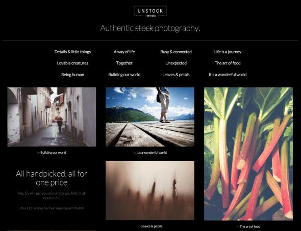 Envato Unstock features authentic images