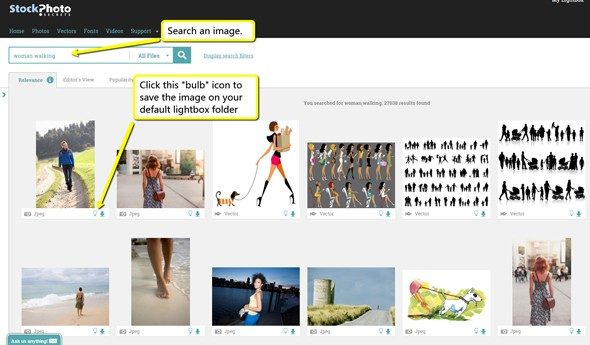 search-an-image-and-save-to-lightbox