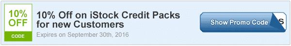 10 percent off istock credit packs