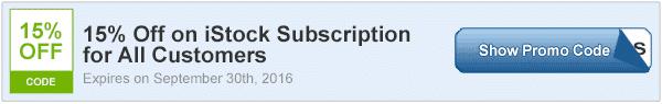 15% off istock subscription