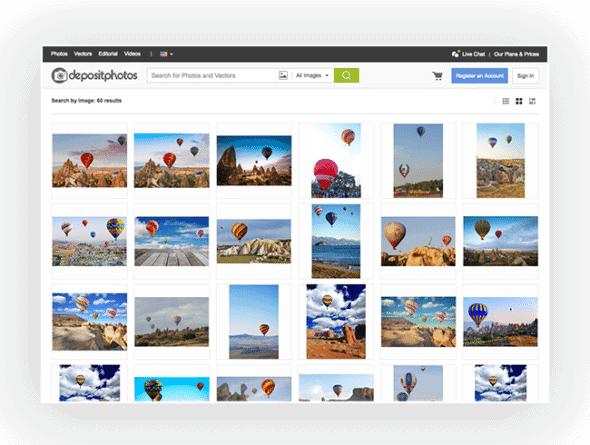 Depositphotos Reverse Image Search Screenshot 1