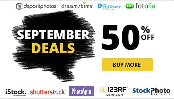September 2016 – Monthly Best Offers to Save up to 50% (plus Free Photos)