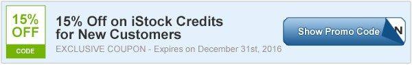15% OFF iStock Credits