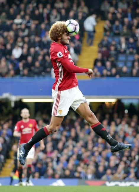 LONDON, UK, 23RD OCTOBER, 2016.Marouane Fellaini of Manchester Utd during the Premier League match between Chelsea and Manchester United at Stamford Bridge, London, England on 23 October 2016. Photo by Robin Jones/The Digital South/SilverHub 0208 004 5359/07711 972644editors@silverhubmedia.com