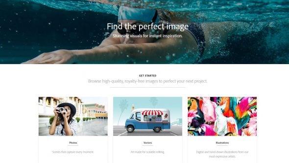 Adobe Stock Images Screenshot