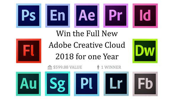 Win 1 Whole Year Of Adobe Creative Cloud For Free! Enter our Giveaway Now!