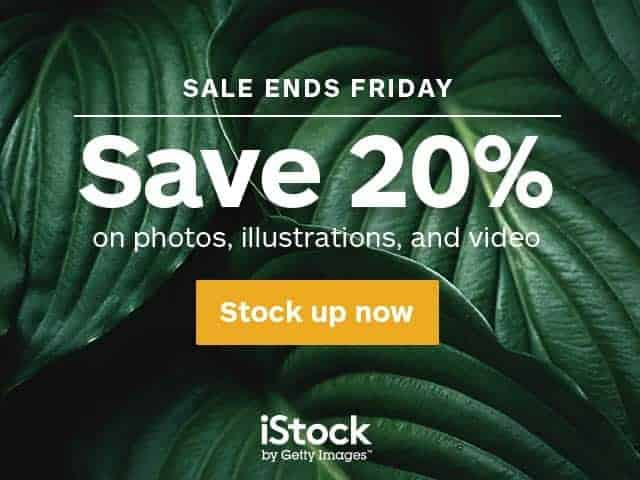 iStock 20% Discount on All Credit Packs
