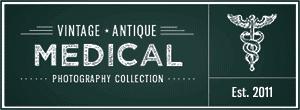 Vintage antique medical logo