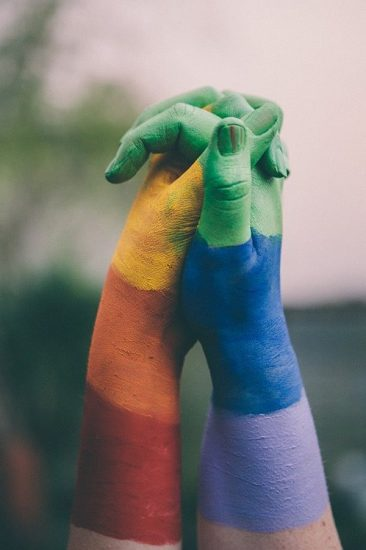 Hands Painted Pride Rainbow