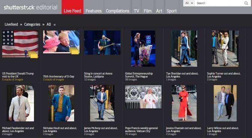 Shutterstock Redactioneel voor actuele redactionele afbeeldingen