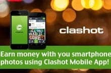 Earn money with you smartphone photos using Clashot Mobile App!