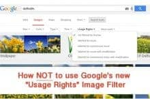 "How not to use Google's new ""Usage Rights"" Image Filter"