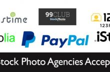 Which Top 5 Stock Photo Agencies accept Paypal?